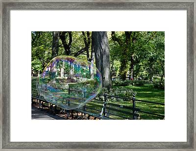Bubble In The Park Framed Print by Rob Hans