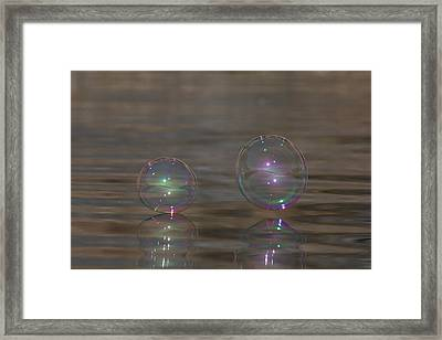 Bubble Iridescence Framed Print by Cathie Douglas