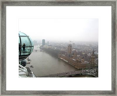 Framed Print featuring the photograph Bubble Over London by Beth Saffer