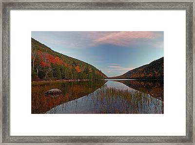 Bubble Pond At Autumn Glory Framed Print by Juergen Roth