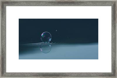 Bubble Ripples Framed Print by Cathie Douglas