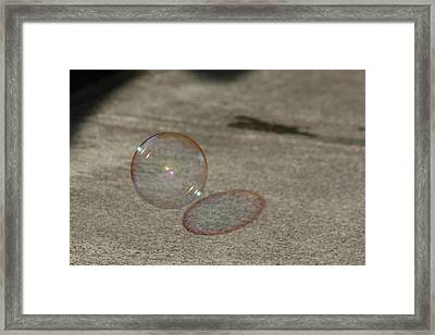 Bubble Shadow Framed Print