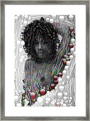 Bubble Woman Framed Print by Bogdan Floridana Oana
