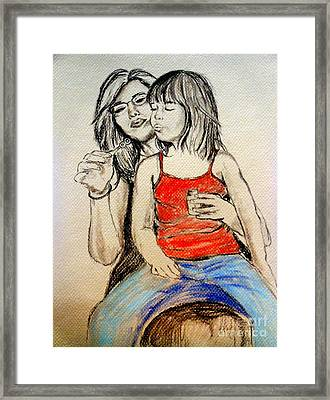 Bubbles Framed Print by Amanda Dinan