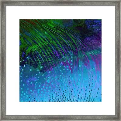 Bubbles Blue And  Green  Framed Print by Ann Powell
