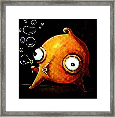 Bubbles Glob Framed Print by Leanne Wilkes