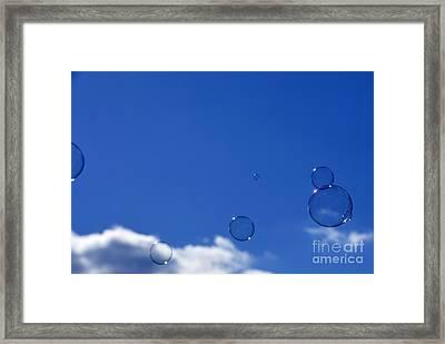 Bubbles In Air Framed Print by Thomas R Fletcher