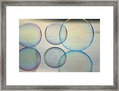 Bubbles On The Water Framed Print by Cathie Douglas