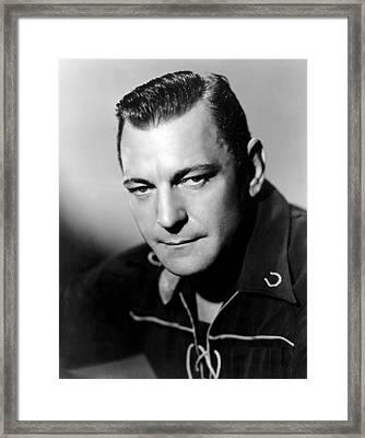 Buck Jones, Columbia Pictures Portrait Framed Print