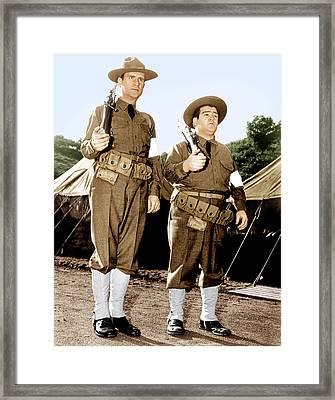 Buck Privates, From Left Bud Abbott Framed Print by Everett