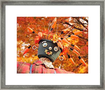 Bucket Head Framed Print by Mike Martin
