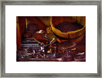 Bucket Of Nails And Stuff Framed Print by David Patterson