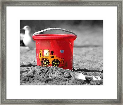 Framed Print featuring the photograph Get A Bucket by Raymond Earley