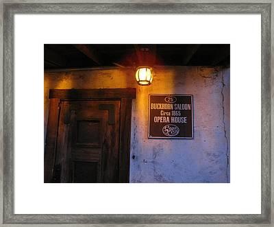 Buckhorn Saloon And Opera House Framed Print by FeVa  Fotos