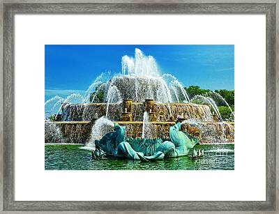 Buckingham Fountain - Chicago Framed Print by JH Photo Service