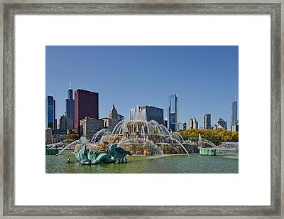 Buckingham Fountain Chicago Framed Print by Christine Till