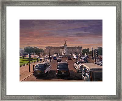 Buckingham Palace Framed Print by Nop Briex