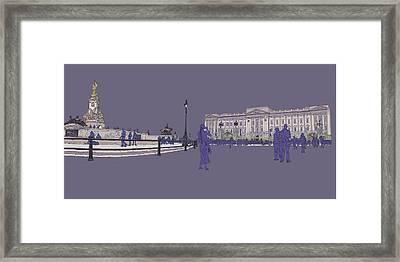 Buckingham Palace, Queen Vctoria Memorial, London Framed Print by Simon Carter