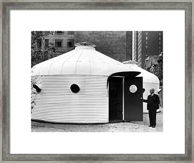 Buckminster Fuller 1940s With His Bomb Framed Print by Everett