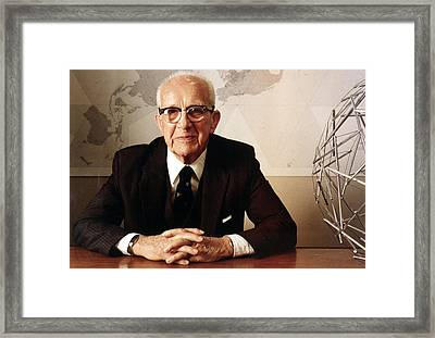 Buckminster Fuller1940s Bomb Shelter Framed Print by Everett