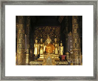 Buddha And His Disciples Framed Print