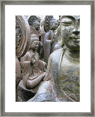Framed Print featuring the photograph Buddha City by Brian Sereda