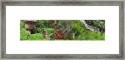 'buddha' Collage Framed Print