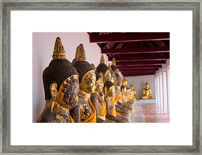 Buddha Culptures Framed Print by Asaha Ruangpanupan