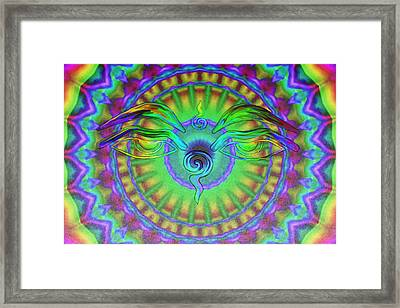 Buddha Eyes Framed Print by Wayne Bow
