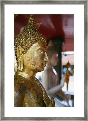 Buddha Figure At Way Doi Suthep Framed Print by Toby Williams