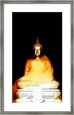 Buddha Glow In The Dark Framed Print by Pdamatic Foto