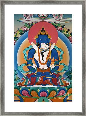 Buddha In Yabyum - Nepal Framed Print