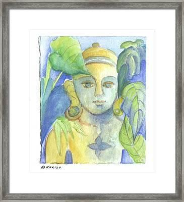 Buddha Framed Print by Karin Zukowski
