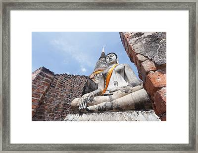buddha statue in Thailand  Framed Print by Thanawat  Wongsuwannathorn