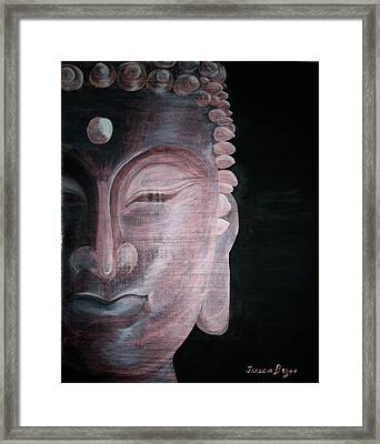 Framed Print featuring the painting Buddha by Teresa Beyer