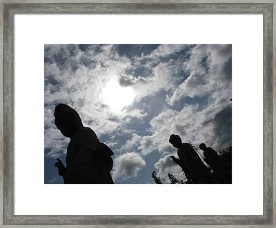 Framed Print featuring the photograph Buddhas Eclipsed By The Sun by Brian Sereda