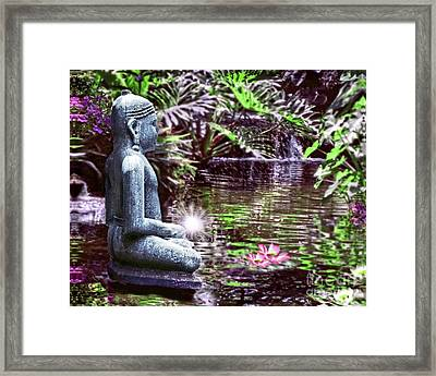 Buddha's Garden Framed Print
