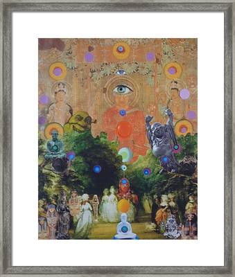 Framed Print featuring the mixed media Buddha's Garden Party by Douglas Fromm