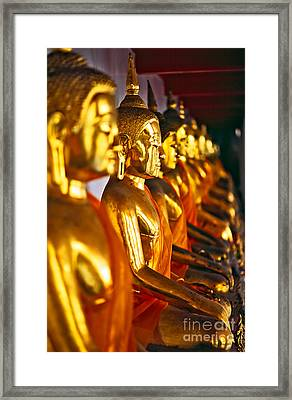 Framed Print featuring the photograph Buddhas by Luciano Mortula