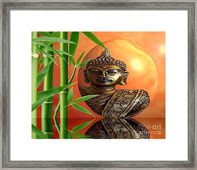 Buddhas Wourld Framed Print by Sandra Beikirch