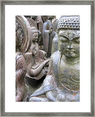 Framed Print featuring the photograph Buddhas2 by Brian Sereda