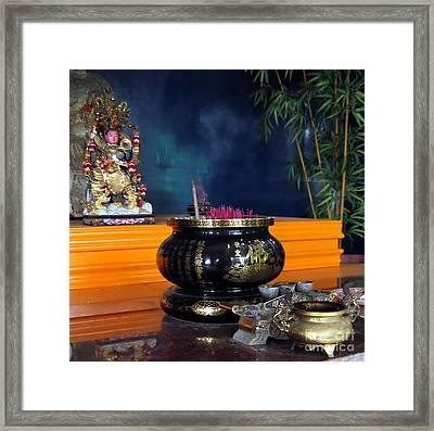 Buddhist Altar Framed Print