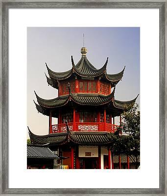 Buddhist Pagoda - Shanghai China Framed Print