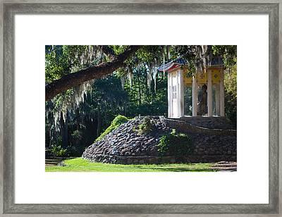 Buddhist Pagoda - Side Framed Print