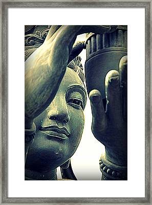 Buddhist Statue Framed Print by Valentino Visentini