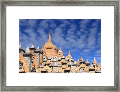 Buddhist Temple In Roi-et Framed Print by Thomas  von Aesch