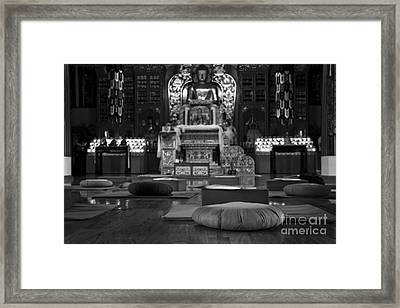Buddhist Temple Woodstock Framed Print by Design Remix
