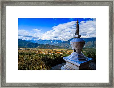 Buddhist Tower In Zhengjue Temple, Yunnan China Framed Print by Feng Wei Photography