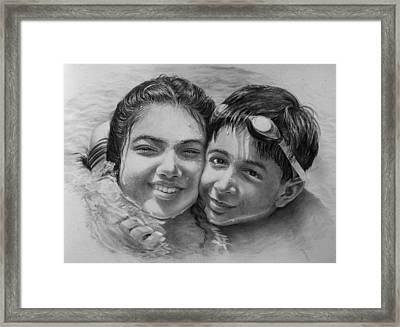 Buddies Framed Print by Arti Chauhan