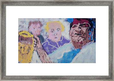 Buddy Have  Drink Framed Print by Jay Manne-Crusoe